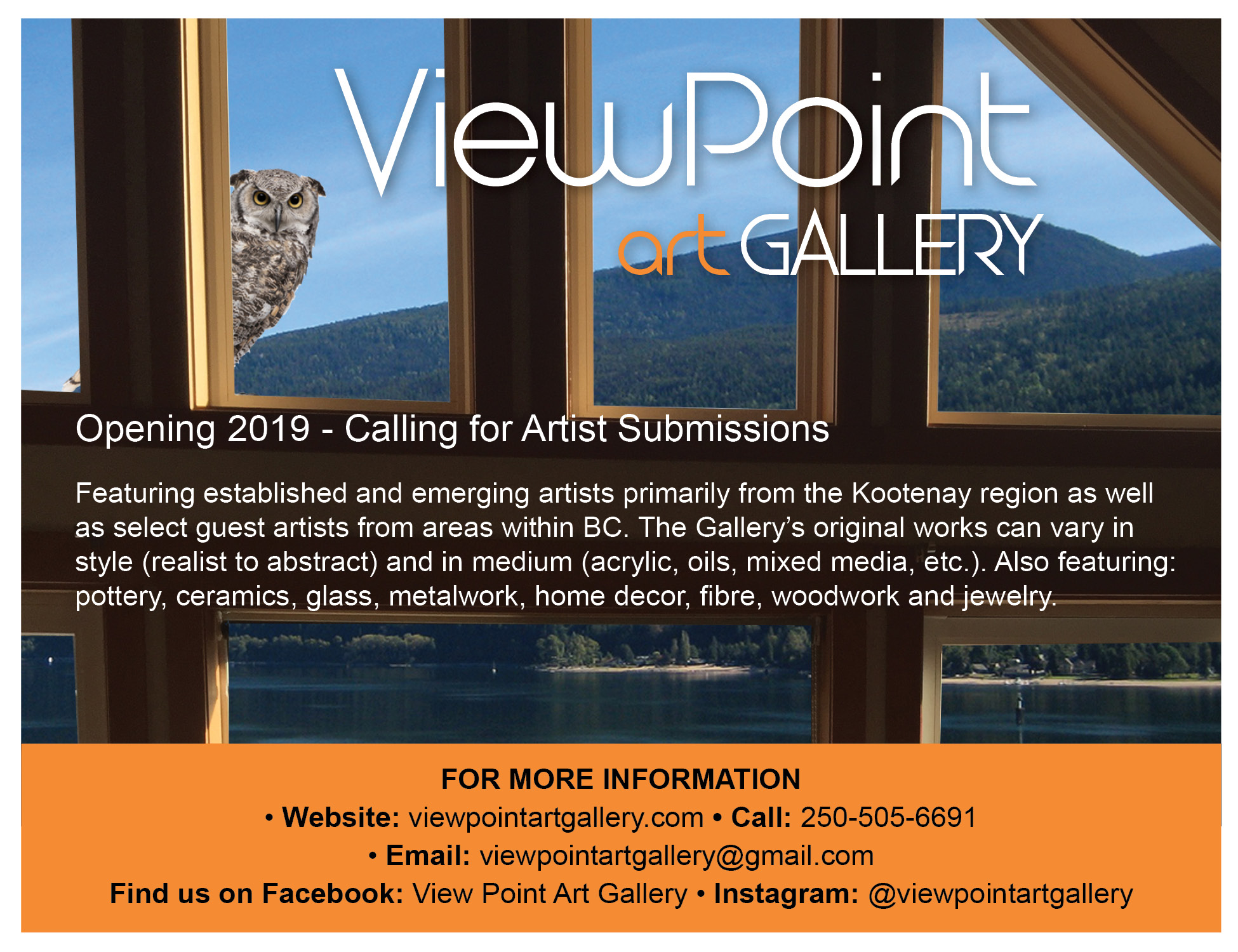 Call to Artists: ViewPoint Art Gallery, Nelson BC - Nelson