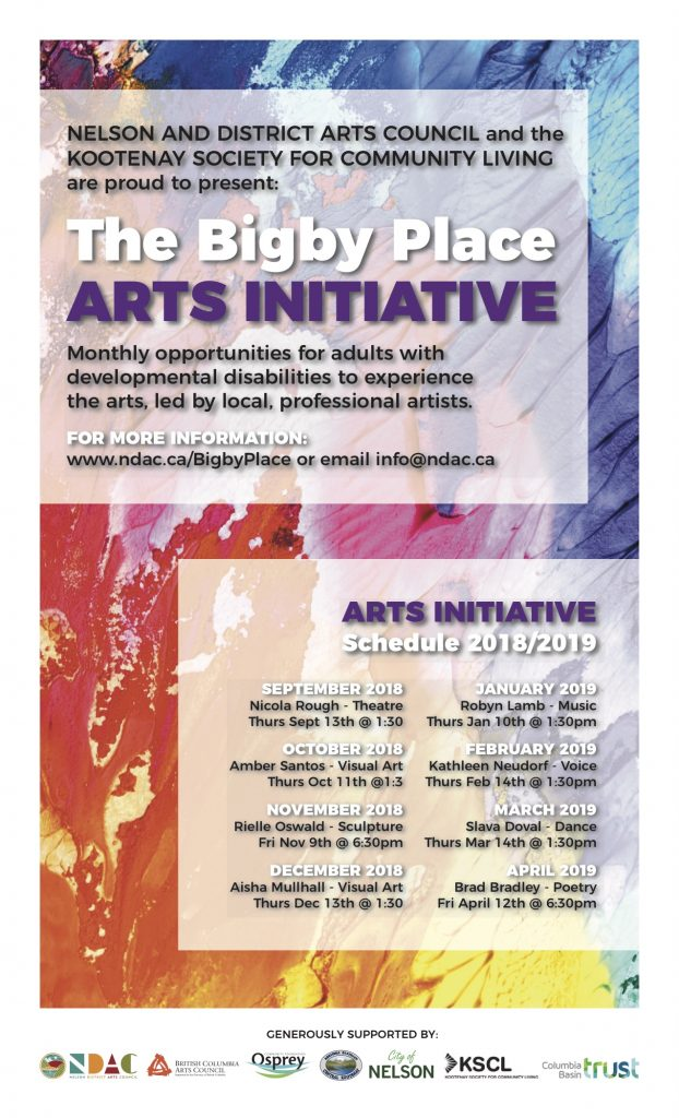 Bigby Place Arts Initiative - Nelson & District Arts Council