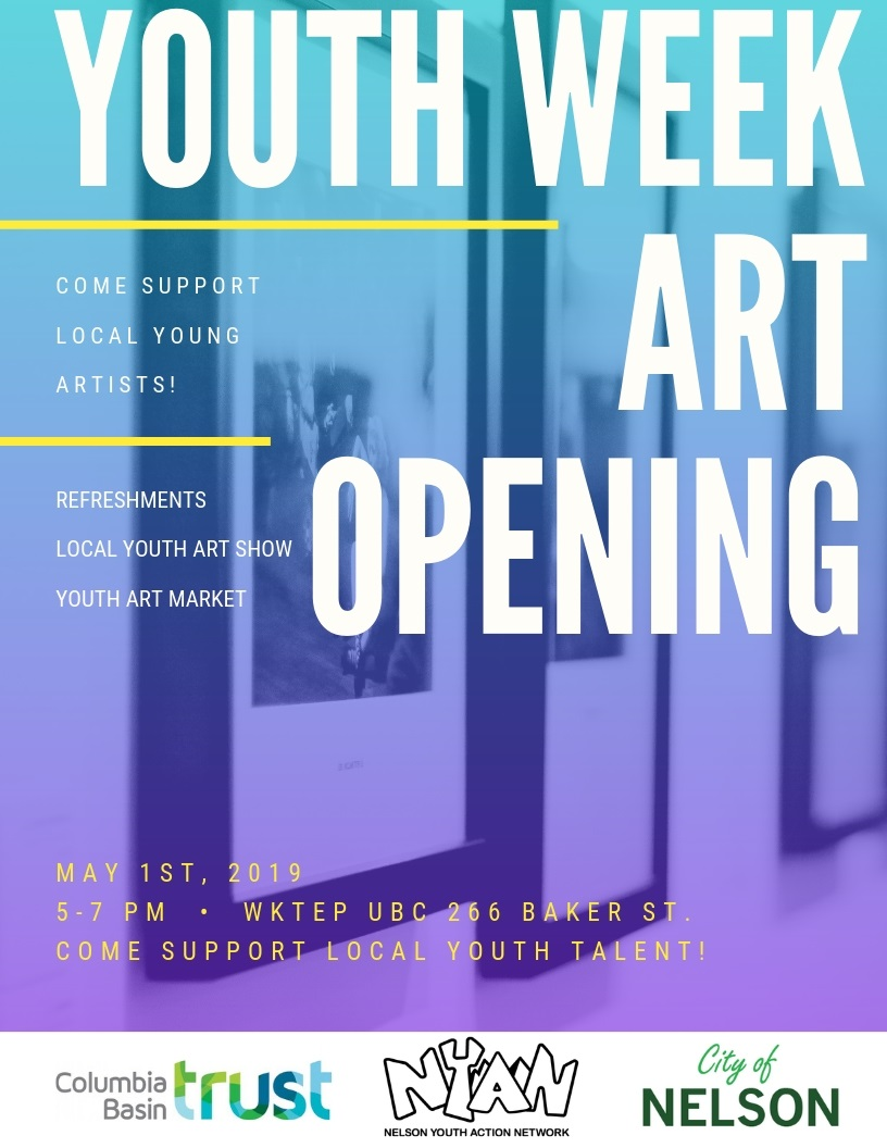 Youth Week Art Opening Call for Artists! - Nelson & District Arts