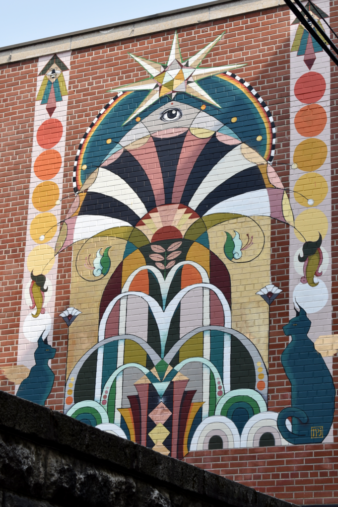 Lion's Gate mural