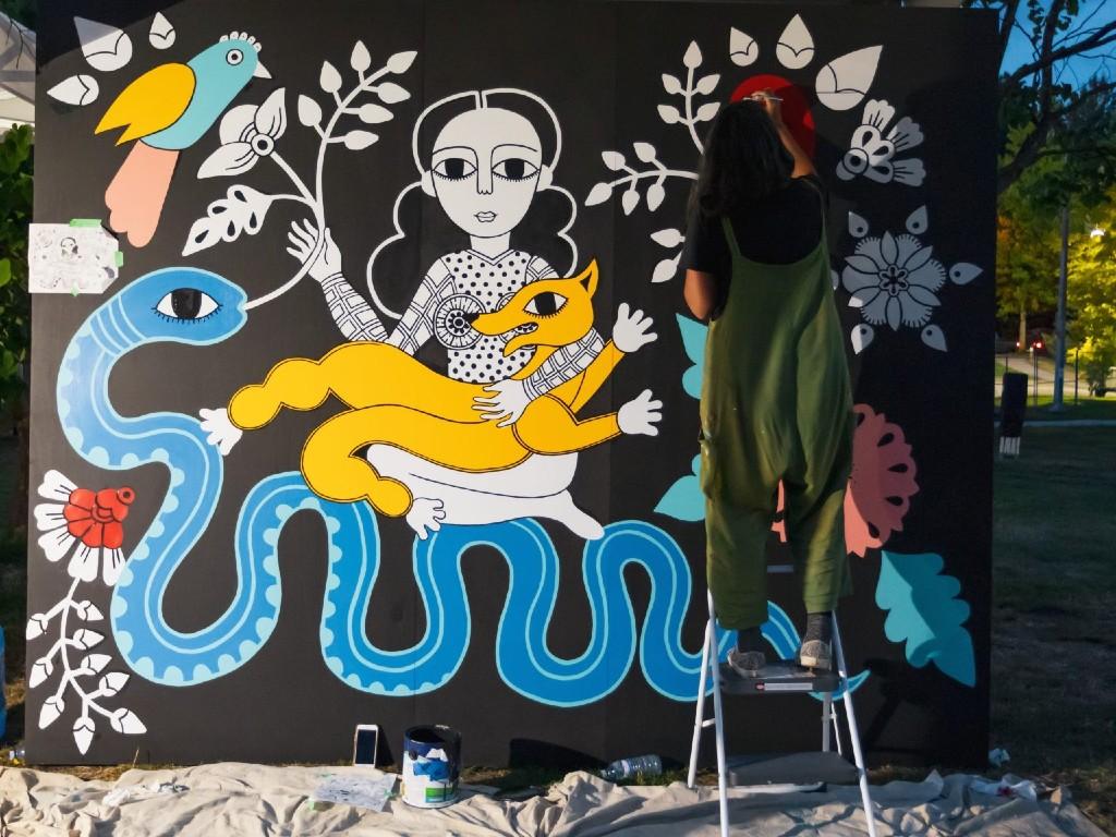 Sandeep Johal, Muralist, Artist