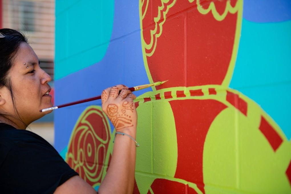 PJ Gilhuly, Muralist, Artist, NIMF 2020